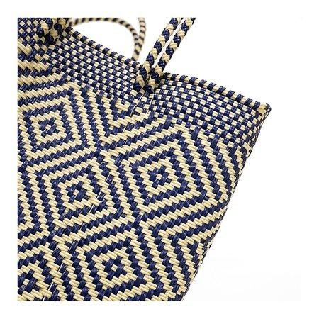 Letra Medium Diamond Mercado Bag - Navy