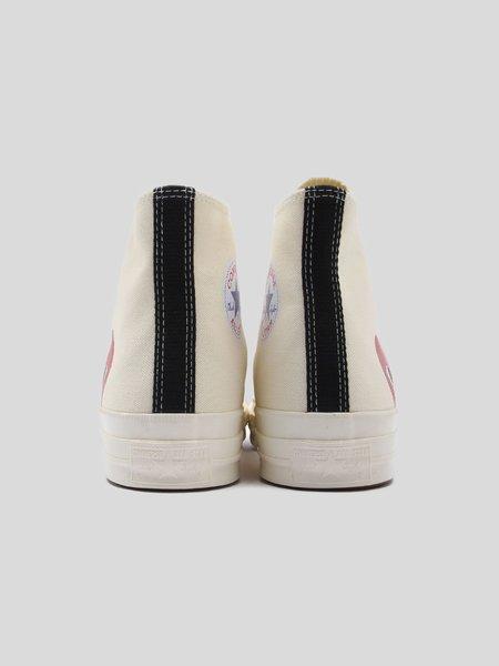 Unisex Comme des Garçons Play Red Heart x Converse Chuck All Star '70 High Sneakers - White
