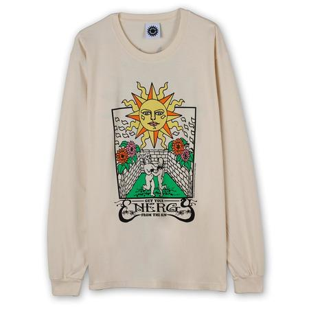 Good Morning Tapes Energy From the Sun Long Sleeve T-shirt - Natural