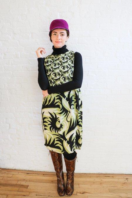 PRE-LOVED Marni Printed Midi Shift Dress - Green