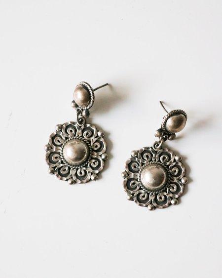 Vintage Drop Earrings - Sterling Silver