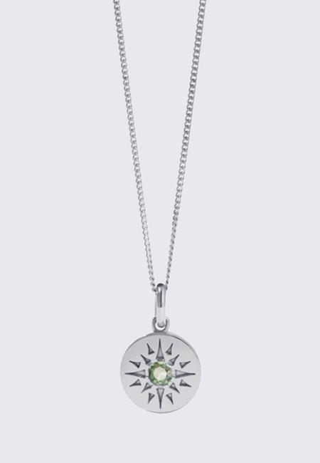 Meadowlark Medium Ursa Necklace - silver/green sapphire