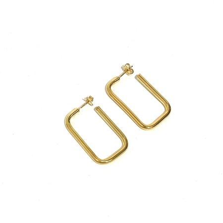 Kara Yoo Gravity Hoops - Yellow Gold Plated