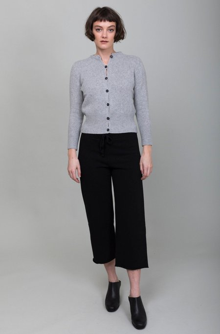 Tee Lab Cropped Wide Leg Sweatpants - Black