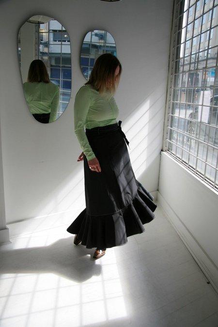 Ganni Recycled Poly Skirt - Phantom