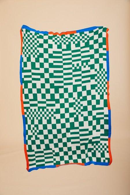 Dusen Dusen Check Throw - green/white