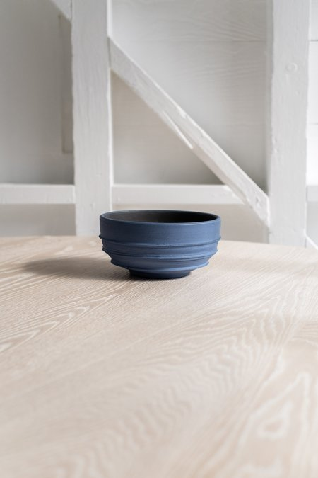 Richard Lau Pottery Large Ridged Vessel - Blue
