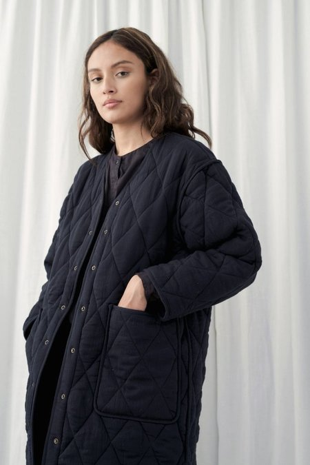 Micaela Greg Long Quilted Jacket