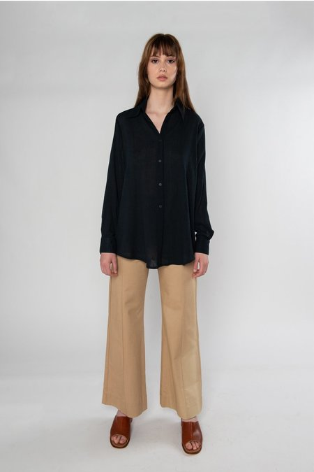Limb The Label Mia Shirt - Black Crinkle