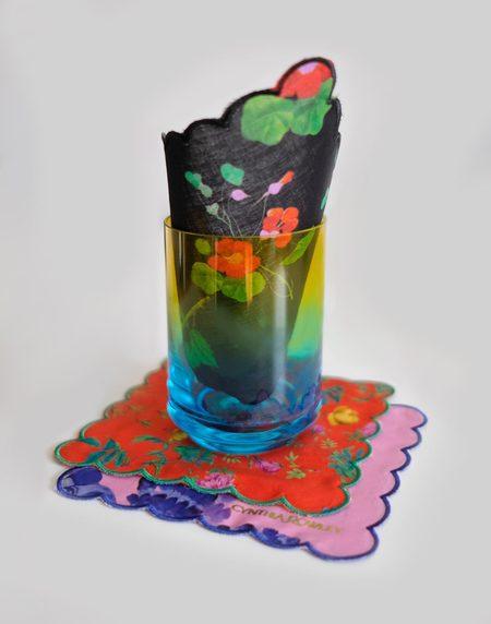 Cynthia Rowley Botanical Print Cocktail Napkin - BLKFL