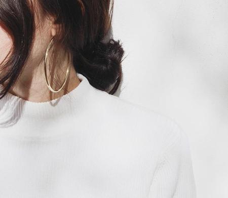 Laura Lombardi XL Classic Hoop Earring - gold