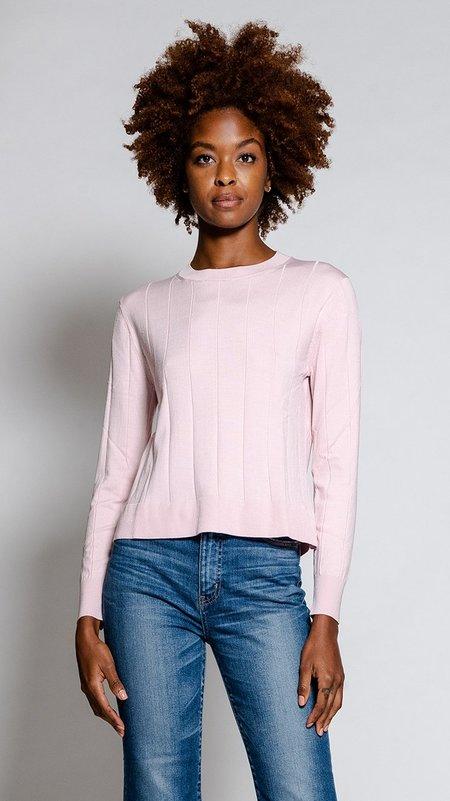 Rachel Comey Baylis Top - Pink Silk Pinstripe