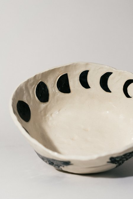 Burnt Thistle Ceramics Wolf and Moon Serving Bowl