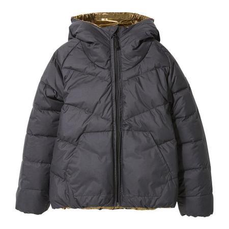 KIDS Finger In The Nose Child Snowdance Reversible Down Winter Jacket - Ash Black/Gold