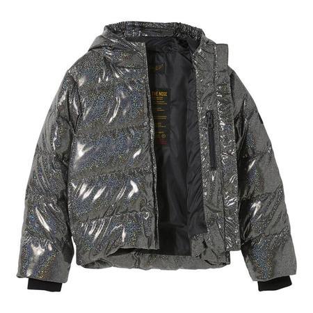 kids Finger In The Nose Child Snowfield Down Winter Jacket - Black Hologram