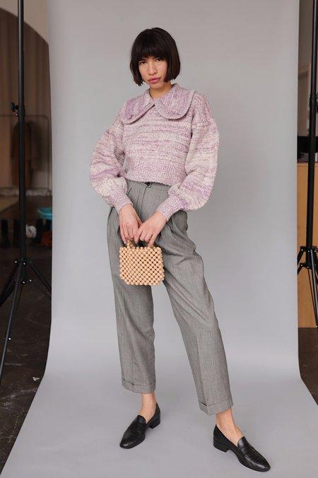 Shampoo Peter Pan Collar Knit Sweater - Berry