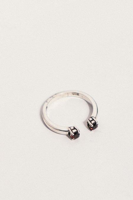 Angela Monaco Silver Passage Ring - Garnet