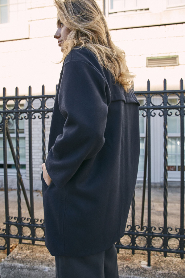Objects Without Meaning Blazer Coat - Navy
