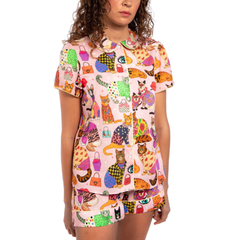 Karen Mabon Catwalk Short Pyjama Set - Pink