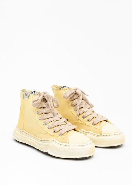Mihara Yasuhiro Original Sole Overdyed Canvas PETERSON HI Sneaker - Beige