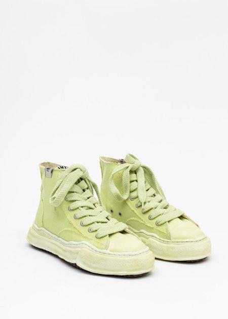 Mihara Yasuhiro PETERSON HI Original Sole Overdyed Canvas Sneaker - Green