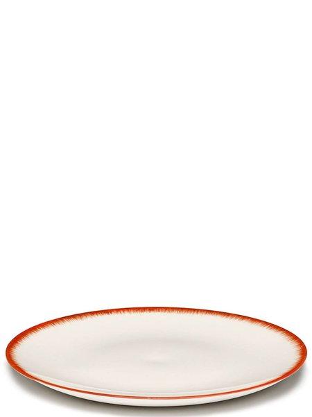 Ann Demeulemeester x Serax 28 cm Var 2 Plate - Off-White/Red