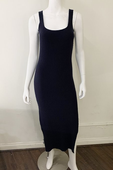 Naadam Sweater Tank Dress - Navy