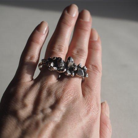 Angela Monaco Crystalized Double Ring - silver