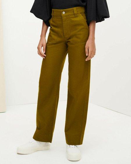 Kowtow Carpenter Jeans - Olive Denim