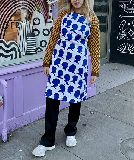 Banquet Atelier & Workshop Radical Women Linen Apron - Blue ink