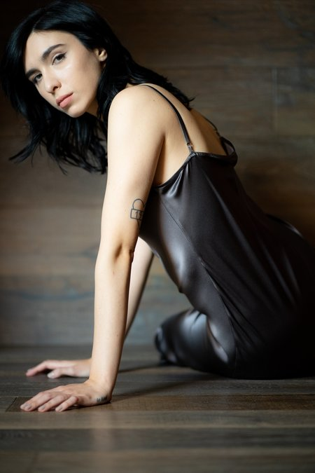 KES Minimal Slip Dress - Amethyst