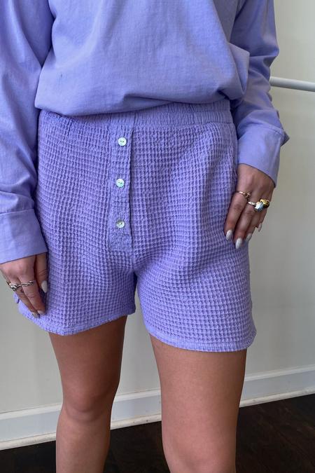 Donni. Waffle Short - Lilac