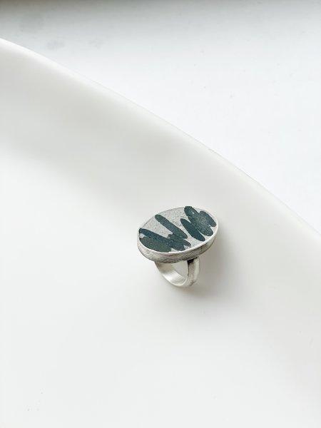 Terri Logan Bezel Set Stone Ring - silver