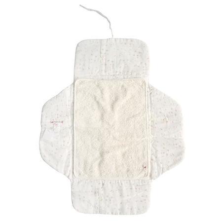 KIDS Bonpoint Baby Malin Floral Print Change Pad - White