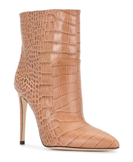 Paris Texas Moc Croc Stiletto Ankle Booties - BEIGE 2954