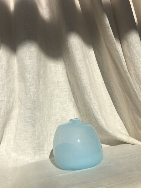 Gary Bodker Designs BIG GEM SQUARE VASE - SKY