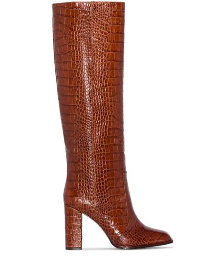 Paris Texas Square Toe Tall Boot - BROWN 2940