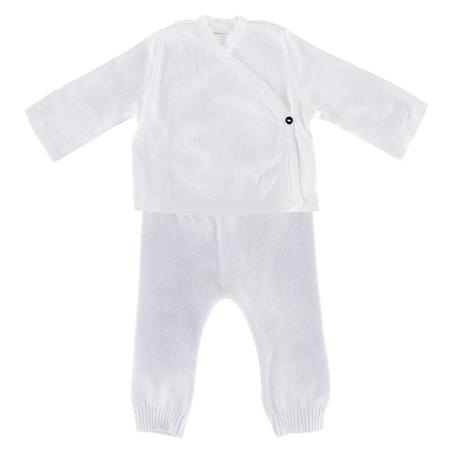 KIDS Pequeno Tocon Baby Two Piece Set - White