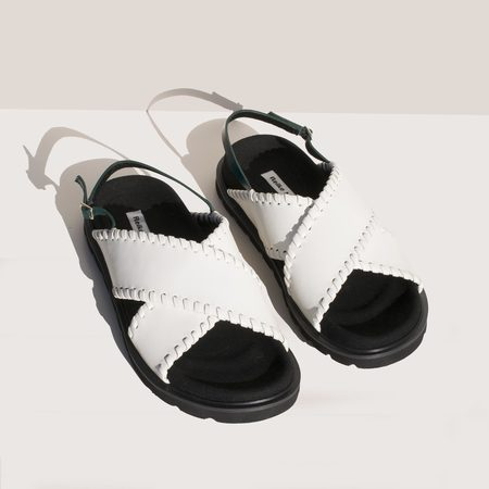 Reike Nen X Strap Mold Sandals - Off White/Green