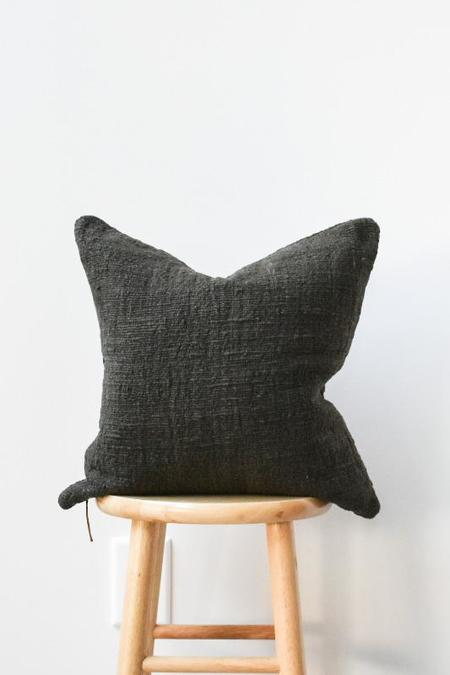 at Dawn. Herb Dyed Pillow Case - Black Ink
