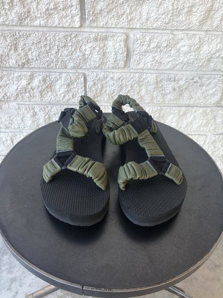 Arizona Love Trekky Leather Sandals - Dark Green