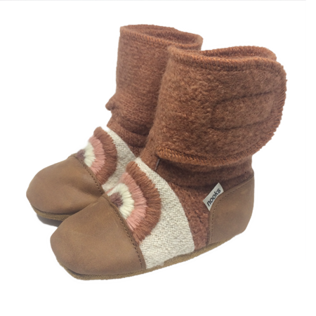 Kids Nooks Design Clay Felted Wool Booties