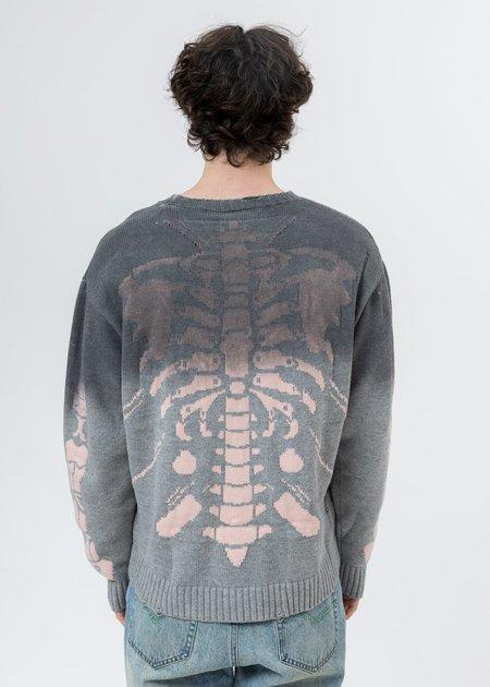 LXVI Rib Cage Sweater - Grey Dyed