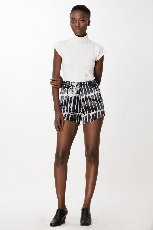 Osei-Duro Dash Shorts in Black Chalk