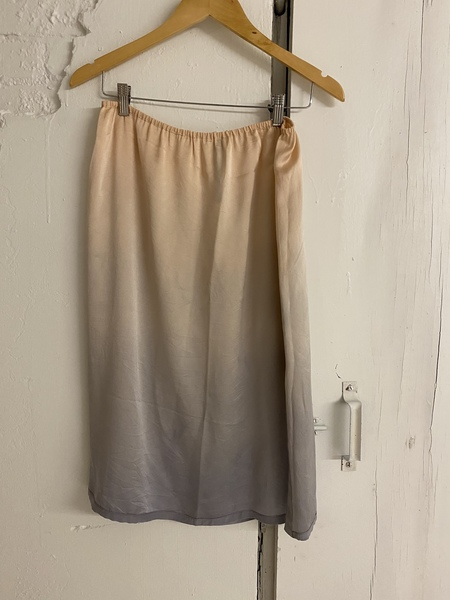 Raquel Allegra Silk Slit Skirt