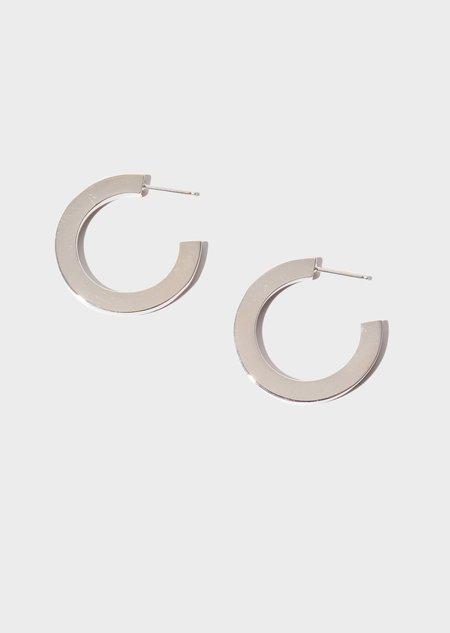 Modern Weaving Square Hoop Earrings - Sterling Silver