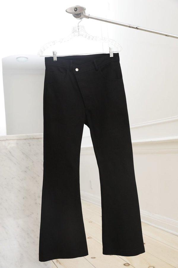 Collina Strada Denim Ineguale Pant - Wide Black