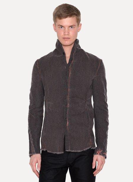LUMEN ET UMBRA Wool Metal Shirt Jacket - black/Bordeaux