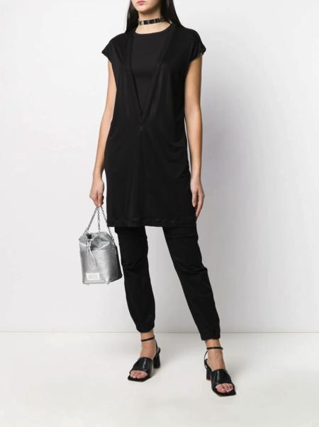 Rick Owens Cap Sleeve Long Jersey T-Shirt - Black