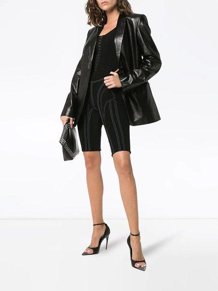 Mugler Cut-Out Bodysuit - Black